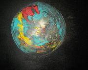 La beauté du monde, 50cm x 50cm, acrylique et poussière d'or, 2011